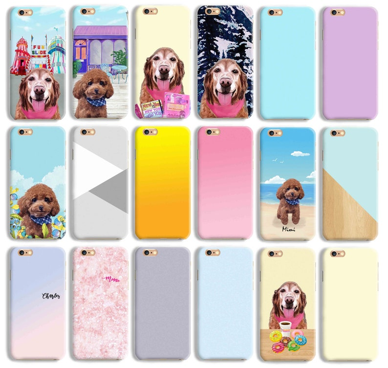 Custom Made personalized gift Portrait Pet Illustration Rabbit Bunny Hare phone case iPhone 11 Pro XS XR 8 7 Plus Galaxy S10 S9 S8 Note 8 9