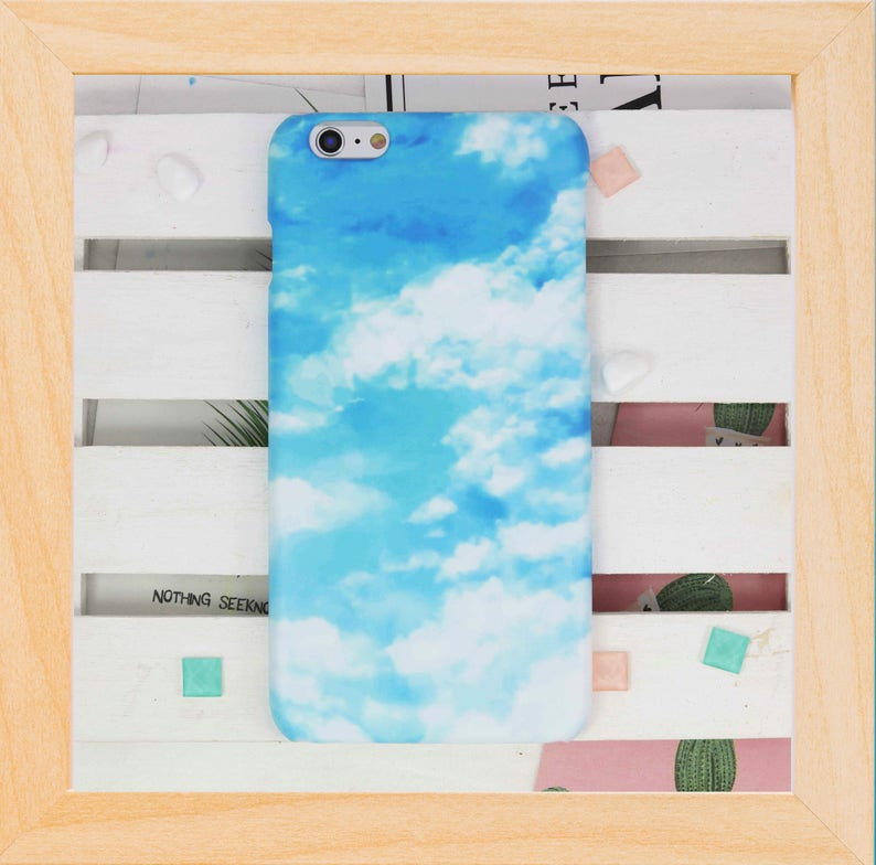 Blue Sky Cloud hard phone case for iPhone X XS max XR 8 7 6S Plus SE  samsung galaxy S9 S8 plus S7 Note 8 Note 9