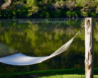 Hammock by the Lake, Photography, Home Decor