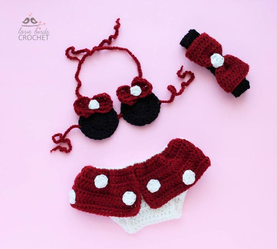 Baby Minnie Mouse Outfit Minnie Mouse Diaper Cover Baby Etsy