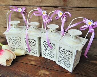 White mini lantern   Etsy