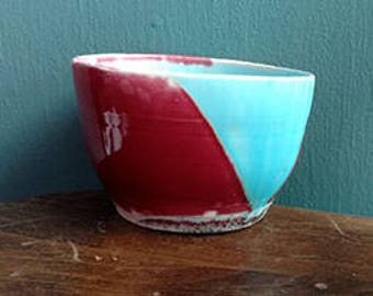 Red and Blue porcelain cup