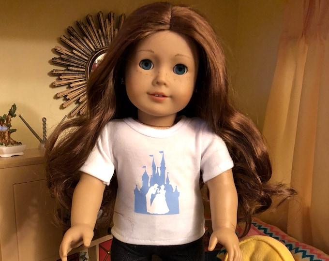 Cinderella Castle Doll Tshirt for American Girl Dolls
