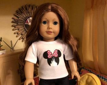 Mouse Ears Castle Doll Tshirt for American Girl Dolls