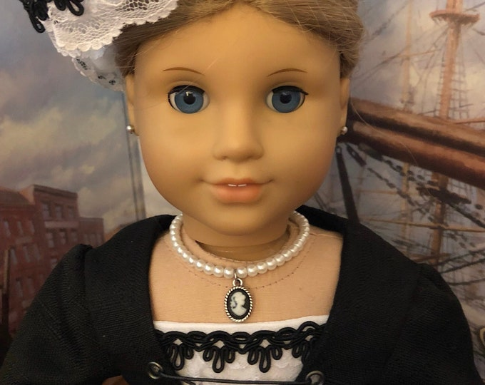 Pearl Cameo Necklace for American Girl Dolls
