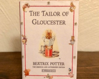 The Tailor of Gloucester by Beatrix Potter doll sized miniature book for American Girl Dolls 1:3 scale