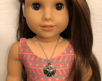 Silver Sand Dollar Necklace for 18 inch American Girl Doll of the year 2020 Joss Kendrick