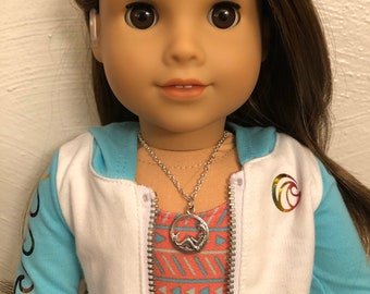 Silver Mermaid Charm Necklace for 18 inch American Girl Doll of the year 2020 Joss Kendrick