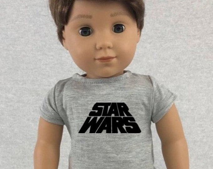 Star Wars Doll Tshirt for American Girl Doll Logan Multiple Colors Available