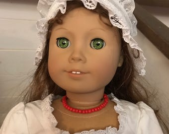 Coral Beaded Necklace for American Girl Felicity
