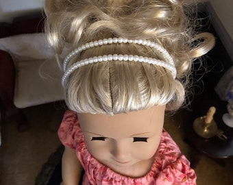 Pearl Double Strand Headband for American Girl 18 inch Dolls