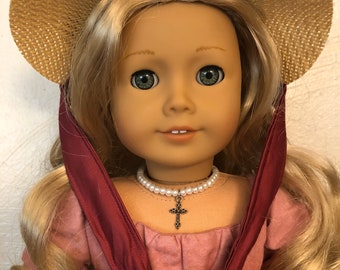 Pearl Cross Necklace Jewelry for 18 inch American Girl Dolls