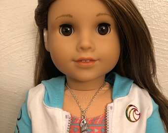 Silver Shell Necklace for 18 inch American Girl Doll of the year 2020 Joss Kendrick