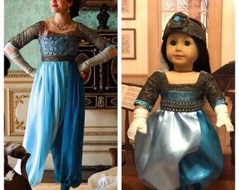 """Downton Abbey inspired Lady Sybil's """"frock"""" for American Girl Dolls"""