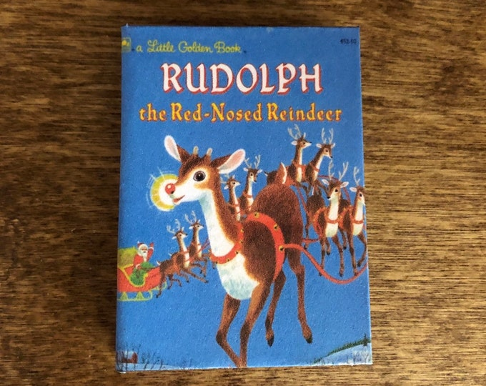 1:3 Scale Rudolph the Red-Nosed Reindeer doll sized mini book for American Girl Dolls