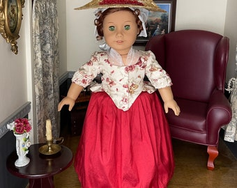Colonial Williamsburg Two Piece for 18 Inch American Girl Dolls