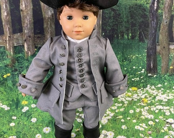 Custom Order - Colonial Era Boys Suit for 18 inch American Girl Dolls