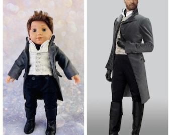 Bridgerton inspired Duke of Hastings regency suit for 18 inch American Girl dolls