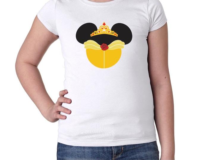 Belle Mouse Ears Girls Tshirt