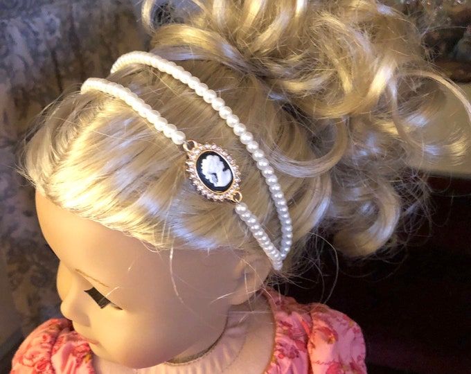 Pearl & Cameo Circlet Headband for American Girl 18 inch Dolls