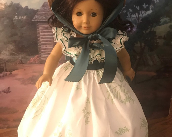 Gone With The Wind Scarlett O'Hara Barbecue Dress for 18 Inch American Girl Dolls