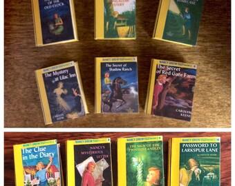 Nancy Drew Mini book set titles 1-10 for American Girl Dolls 18 Inch Dolls 1:3 Scale