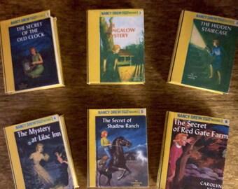 Nancy Drew Mini books set 1-6 for American Girl 18 Inch Dolls 1:3 Scale