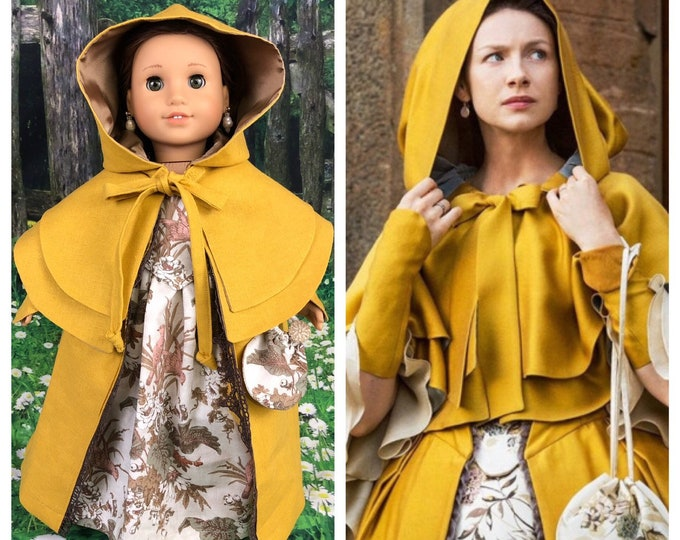 Claire Fraser Outlander Gold Dress & Cape  (entire outfit)