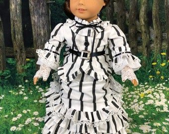 Made To Order: 1870's Bustle Dress for 18 inch American Girl Dolls
