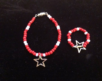 Star Girl & Doll Matching Bracelets for American Girl 18 inch Dolls