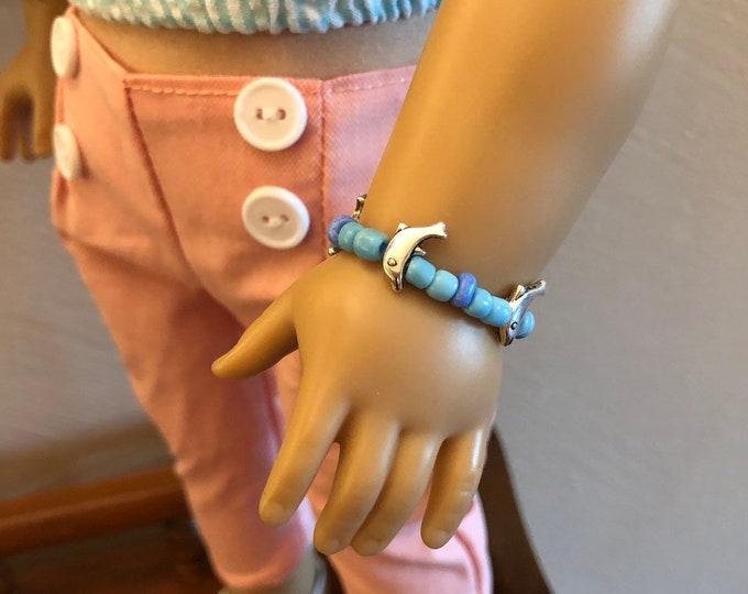 Dolphin Charm Bracelet for American Girl Dolls