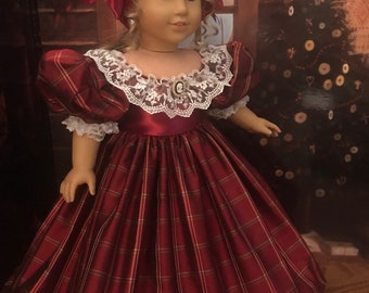 Victorian Christmas Gown for 18 inch American Girl Dolls