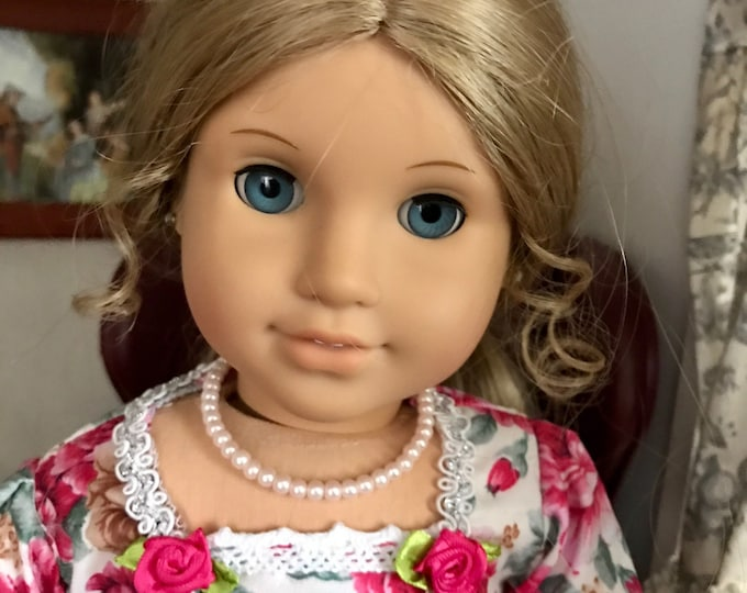 Pink Pearl Necklace for American Girl Elizabeth