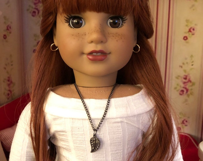 Leaf Charm Necklace for 18 inch Dolls American Girl Doll Jewelry