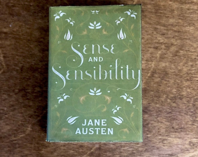 1:3 Scale Jane Austens Sense and Sensibility doll sized mini book for American Girl Dolls