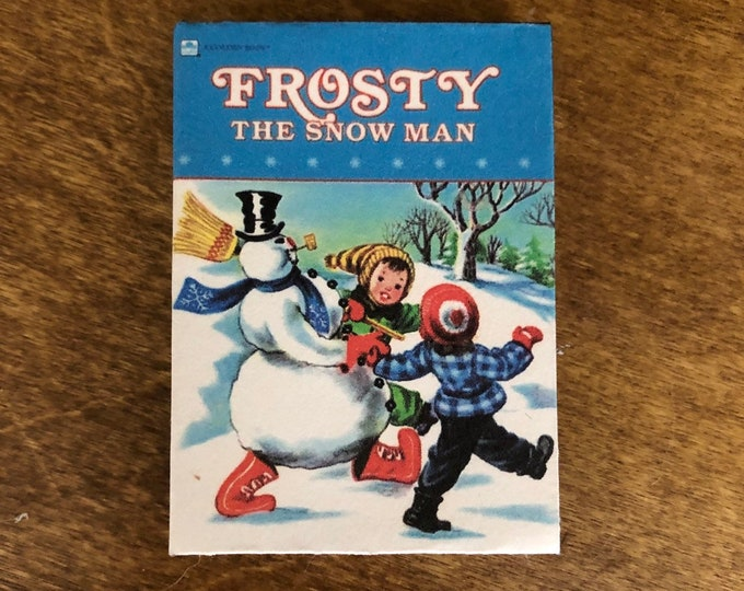 1:3 Scale Frosty The Snowman doll sized mini book for American Girl Dolls