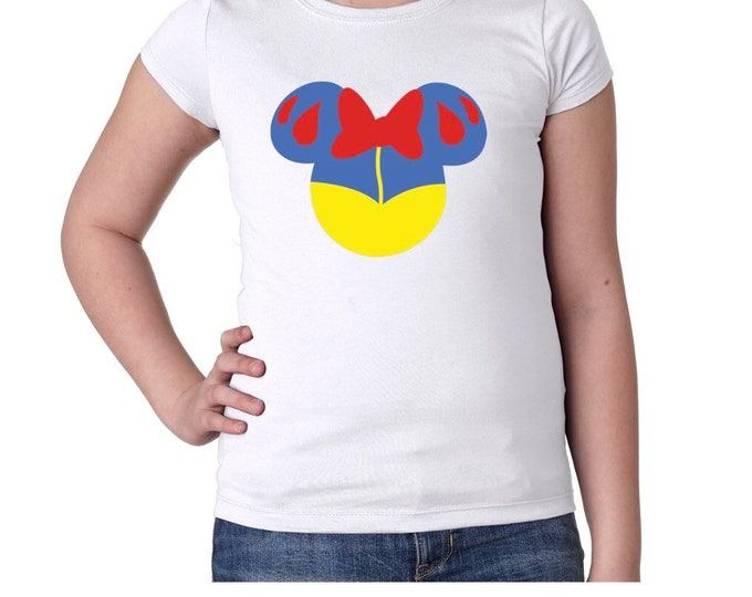 Snow White Mouse Ears Girls Tshirt