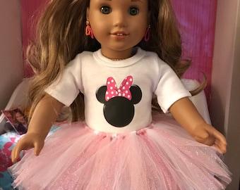 Minnie Mouse Pink Polka Dot Ears Tshirt & Tutu