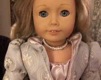 Pearl and Diamond Necklace for 18 inch American Girl Dolls
