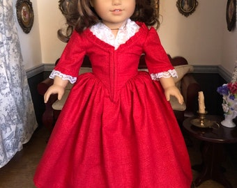 Made To Order: Outlander inspired 1770's Claire Fraser 'Drums of Autumn' Gown for American Girl Dolls