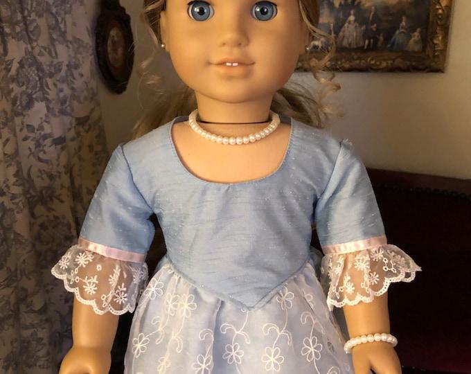 Pearl Necklace & Bracelet for 18 Inch American Girl Doll Elizabeth