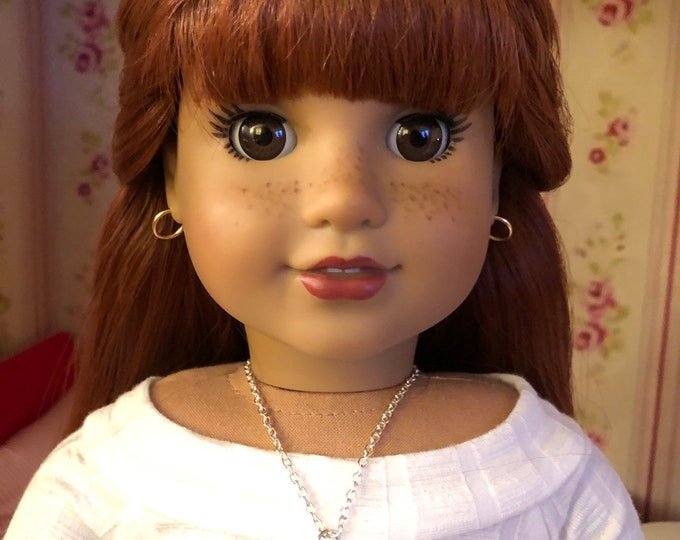 Silver Hummingbird Charm Necklace for 18 inch Dolls American Girl Doll Jewelry