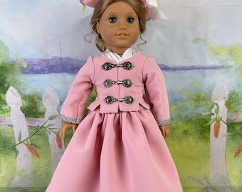 Custom Order - Colonial Era riding costume for 18 inch American Girl Dolls