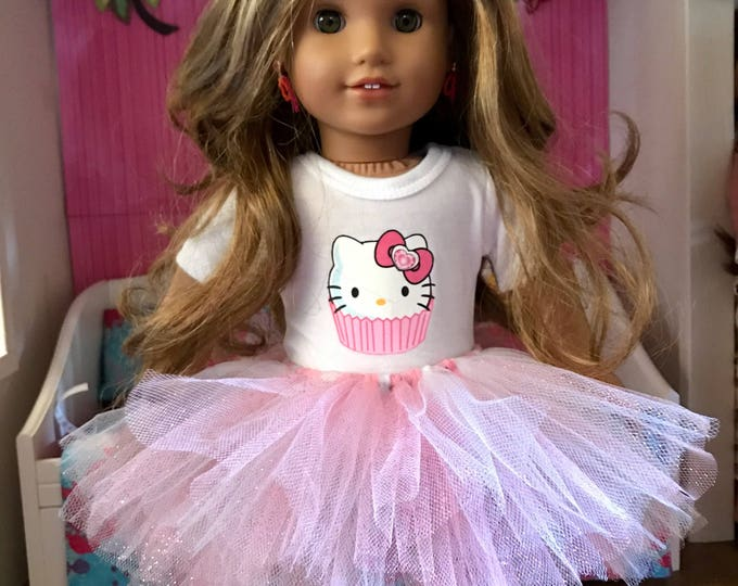 Hello Kitty Tutu Outfit for American Girl Dolls