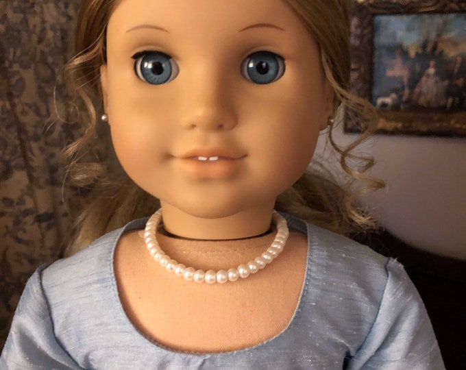 Beaded Pearl Necklace for American Girl Doll Elizabeth