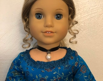 Teardrop Pearl Choker Necklace Jewelry for 18 inch American Girl Dolls