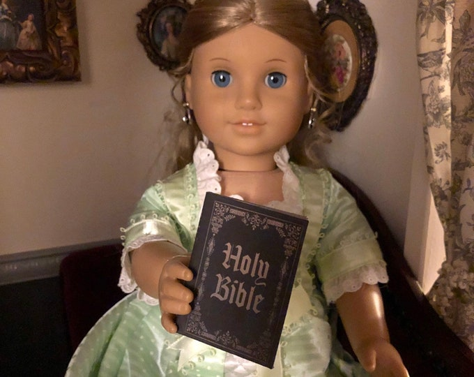 Holy Bible 1:3 scale mini book for American Girl Dolls