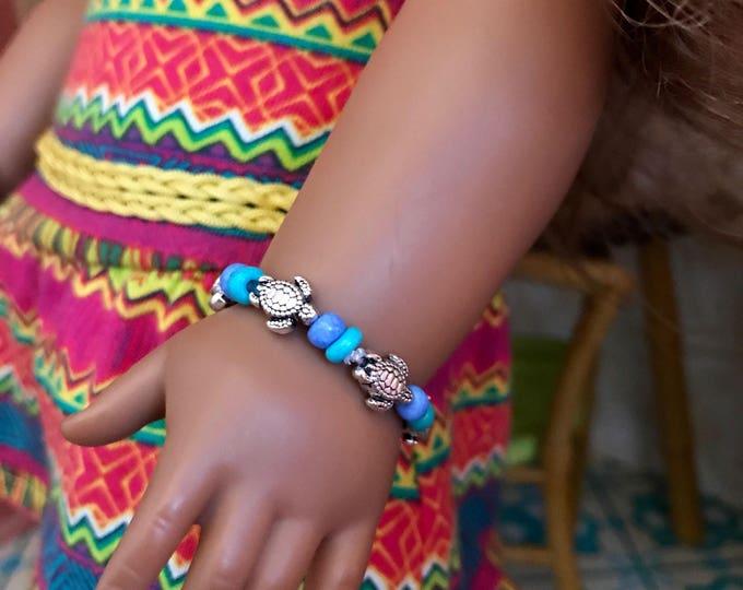 Turtle Bracelet for American Girl Lea - Blue