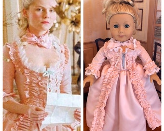 Marie Antionette Pink Colonial Gown for American Girl Dolls