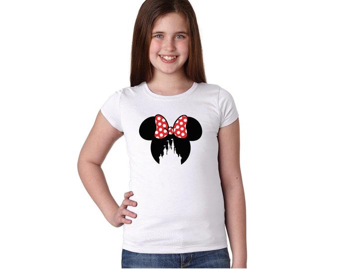 Girl's Mouse Ears Castle Tshirt